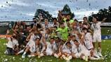 Real feiert nach dem Finalsieg gegen Benfica