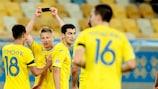 Oleksandr Zinchenko erzielte den ukrainischen Siegtreffer