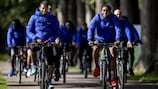 The Netherlands' Georginio Wijnaldum and Leroy Fer out for a ride on the eve of the game
