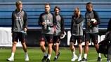 A selecção da Dinamarca prepara a recepção à Inglaterra