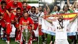 Bayern e Sevilha celebram as suas conquistas europeias em Agosto