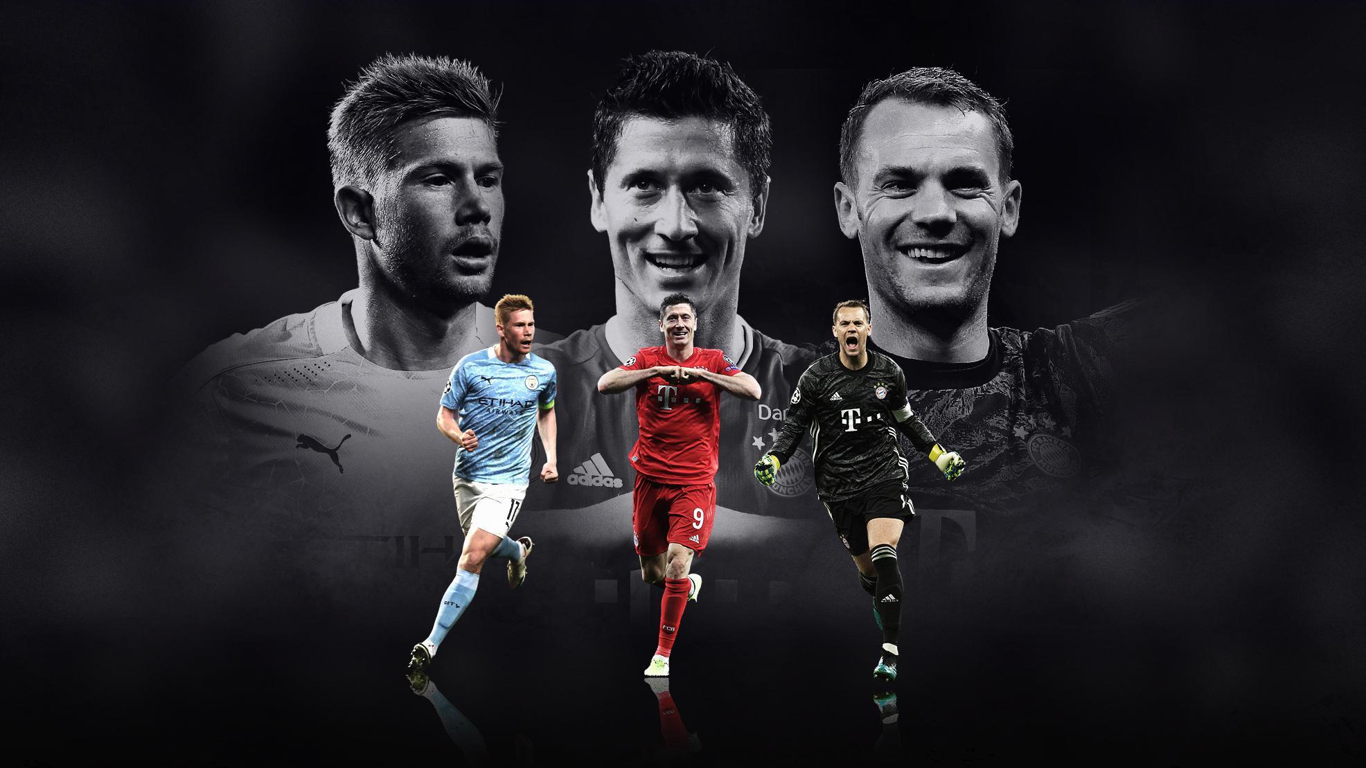 Joueur de l'année UEFA, ça se décidera entre De Bruyne, Lewandowski et Neuer