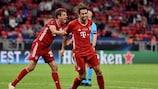 Javi Martinez logo após ter marcado o golo da vitória do Bayern frente ao Sevilha