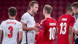 Harry Kane and Christian Eriksen after September's 0-0 draw