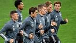 Alemania entrena en Kiev en la previa de su duelo contra Ucrania