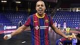 Ferrao celebrates Barça's victory