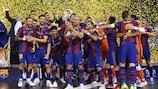 Barça celebrate victory