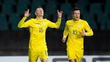 Виктор Цыганков (слева) верит, что сборная Украины может добиться большого успеха на ЕВРО-2020