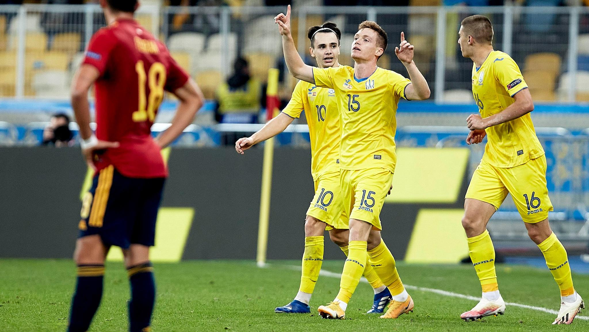 Report: Ukraine 1-0 Spain