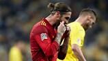 Sergio Ramos demuestra la desolación de la derrota de España