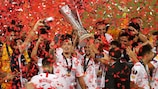 Sevilla feiert den Titelgewinn 2020