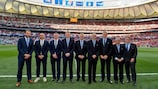 UEFA technical observers prior to the UEFA Champions League Final in 2019.
