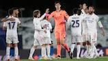 Les joueurs du Real fêtent leur victoire sur l'Inter