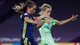Sara Björk Gunnarsdóttir recorrió más de 12 km en la final contra su antiguo club