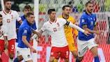 Lewandowski en el anterior duelo ante Italia