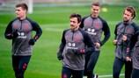 Denmark training at Helsingør Stadion this week