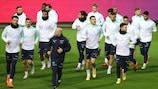Les Suisses à l'entraînement