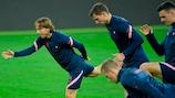 Croatia train ahead of the game