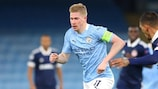 City's Kevin De Bruyne in action against Olympiacos
