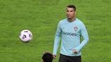 Portugal forward Cristiano Ronaldo training in Split