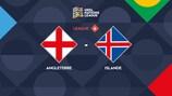 Les deux équipes après le match en Islande
