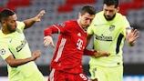 Robert Lewandowski im Hinspiel gegen Atlético