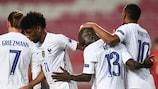 N'Golo Kante a marqué le but de la qualification au Portugal