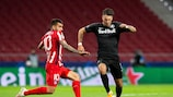 Dominik Szoboszlai machte im Hinspiel in Spanien ein Tor