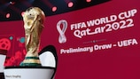 The World Cup Trophy on display in Zurich during UEFA's World Cup qualifying draw