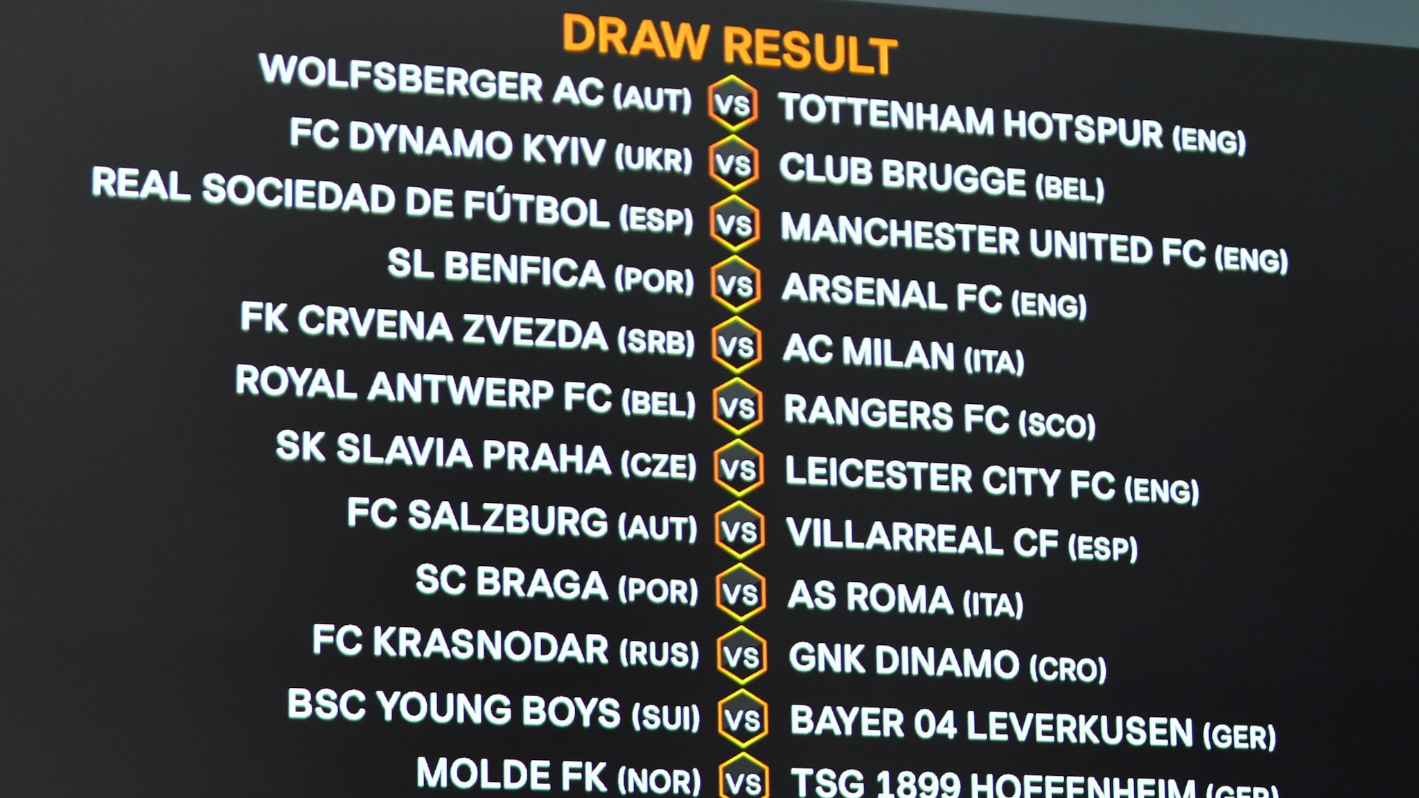 Europa League round of 32 draw: who will face who?