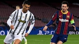 A fase de grupos de  2020/21 marcou o reencontro entre Cristiano Ronaldo e Lionel Messi