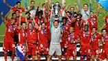 Il Bayern München festeggia la vittoria della UEFA Champions League 2019/20