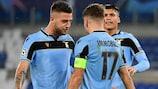 Lazio sicherte sich durch ein 2:2 gegen Club Brugge am 6. Spieltag den zweiten Platz in Gruppe F