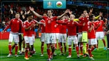 Wales enjoy a memorable win against Belgium in 2016
