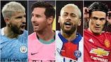 Sergio Agüero, Lionel Messi, Neymar und Edinson Cavani