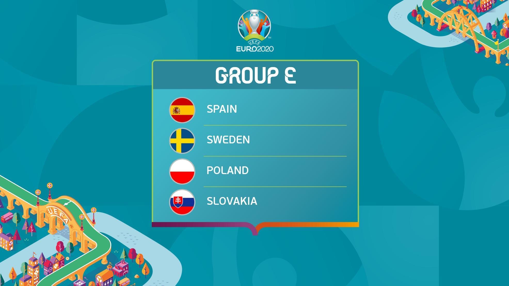 UEFA EURO 2020 Group E: Spain, Sweden, Poland, Slovakia | UEFA EURO 2020 |  UEFA.com