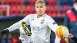 Iceland's Arnór Sigurðsson in action for CSKA Moskva