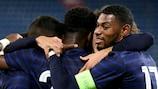 France celebrate a U21 goal