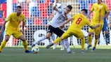 Germany and Romania in action in the 2019 semi-finals