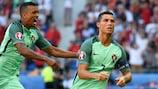 Portugal forward Cristiano Ronaldo celebrates after scoring against Hungary at EURO 2016