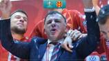 La conférence de presse animée d'Igor Angelovski après la victoire en barrages face à la Géorgie