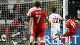 Gareth Bale segna contro la Svizzera nelle qualificazioni a EURO 2012