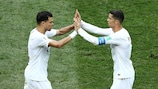 Pepe (Porto) et  Ronaldo (Juventus) sous le maillot du Portugal