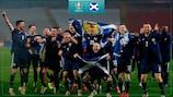 Scotland celebrate qualifying for UEFA EURO 2020