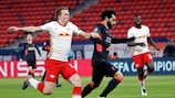 Mohamed Salah brachte Liverpool gegen Leipzig auf Kurs.
