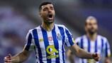 Mehdi Taremi festeja o seu golo madrugador pelo Porto