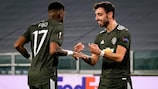 Bruno Fernandes struck twice for Manchester United away to Real Sociedad