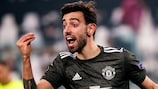 Bruno Fernandes struck twice for Manchester United in the first leg