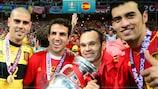 Spain celebrate winning UEFA EURO 2012