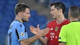 Ciro Immobile  and  Robert Lewandowski  meet at the end of the first leg
